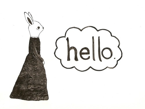 rabbit says hello...