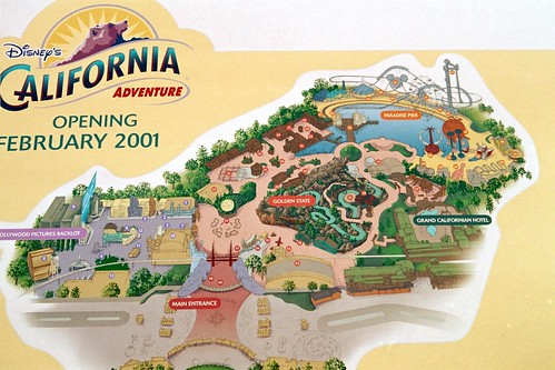 Disney California Adventure Layout Map In 2000 A Photo On Flickriver