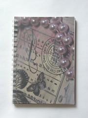 notebook pearls (afiori.com) Tags: travel collage notebook mixedmedia journal blankbook afiori mariathrseandersson mixedpaperbook