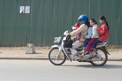 Five people , one bike.