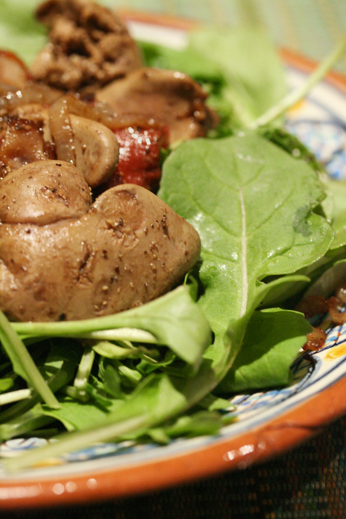 Warm Balsamic Chicken Liver Salad