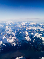 Alps (sausyn) Tags: above blue snow mountains alps montagne plane swiss neve svizzera aereo iphone aerea