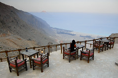 Dining on the Edge (Dan & Luiza from TravelPlusStyle.com) Tags: oman musandam sixsenseshideaway zighybay