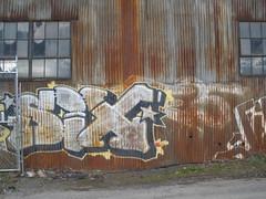 Six (Steady Decline) Tags: train graffiti rust 5 graf tracks taken 200 older graff six 2009