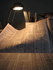 Washington Post stock tables (Dan_DC) Tags: news newspaper charts graphs stocks ephemera editorial financial journalism freespeech finance newsprint securities reporting dowjones newsmedia firstamendment stockquotes stocklistings businesssection fourthestate tasklamp pricequotes coveringnews