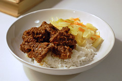 Beef Rendang and Rice (su-lin) Tags: food recipe beef curry homemade homecooked malaysian indonesian rendang