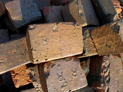 Broken bricks (yooperann) Tags: road trip broken illinois antique bricks historic forestpark alternheim