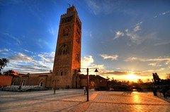 La Koutoubia Mosque - Marrakech, Morocco (5ERG10) Tags: africa blue sunset sky reflection tower church sergio architecture photoshop nikon cathedral minaret wideangle mosque morocco maroc handheld marocco marrakech marrakesh architettura hdr highdynamicrange koutoubia afrique mosque d300 3xp photomatix sigma1020 tonemapping lakoutoubia amiti 5erg10 alkoutoubiyyin sergioamiti