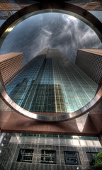 Wells Fargo Tower (DaveWilsonPhotography) Tags: building architecture skyscraper texas tx houston explore wellsfargo hdr photomatix 6exp cooliris top20texas bestoftexas