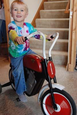 kids vintage motorcycle