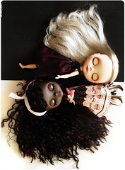 Cherry on Top: Blythe Songs - EBONY AND IVORY (Sabrina Eras) Tags: white black bigeyes ivory blythe custom ebony plasticdoll cherryontop sabrinaeras mimichocolatdress