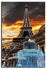 Eiffel Tower (L Geoffroy) Tags: sunset fab sky cloud paris clouds sunrise twilight desert lasvegas nevada eiffeltower casino chapeau waterfountain pariscasino cs4 dslra350 dslr350 lgeof allphotoswanted