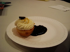 Lemon Blueberry Mascarpone Cupcake