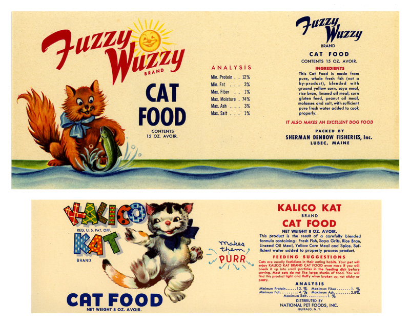 catfood labels
