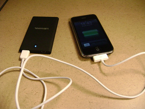 My iPhone and battery pack