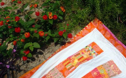 summer quilt binding