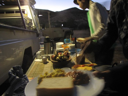 Breakfast in Damaraland