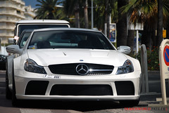 M-B SL65 Black Series from Dubai (Julien Rubicondo Photography - julienrubicondo.com) Tags: red summer white black cars car rouge mercedes benz dubai noir cannes duo bordeaux 666 sl mercedesbenz series t bugatti blanc rare 2009 supercar 65 sl65 ete qatar supercars veyron dxb noire croisette duba 2k9