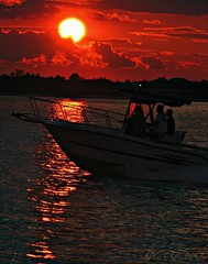 a perfect sunset eve (GGoddessS) Tags: ocean sunset water bay boat newjersey ripples barnegat baside