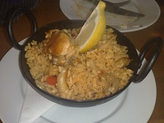 Paella tapas at Tapa, Leith, Edinburgh
