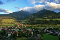 View over Uttendorf, Austria (Bogdanz) Tags: blue roof sky house mountains green nature clouds landscape austria valley zellamsee kaprun fotop uttendorf fpurban