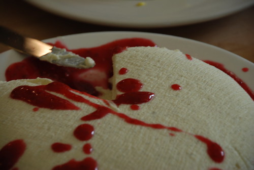 cream spread and jam