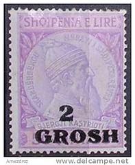 "Mbishkrim ""2 grosh"". Forcat ushtarake gjermane n Shqipri (1943-1944). Occupation allemande de l'Albanie (1943-1944). Surcharge de 2 grosh (""Groszen"", centimes). (Only Tradition) Tags: al albania filatelia albanien shqiperi shqiperia albanija albanie shqip shqipri ppsh shqipria filateli shqipe arnavutluk hcpa philatlie albani   gjuha   rpsh  rpssh       albnija"