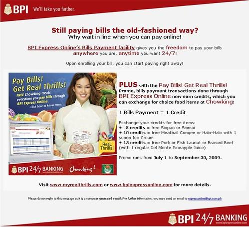 Free Chowking Treats from BPI