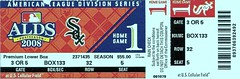 American League Division Series,  2008 (Brule Laker) Tags: ticketstubs americanleague chicagowhitesox majorleaguebaseball t