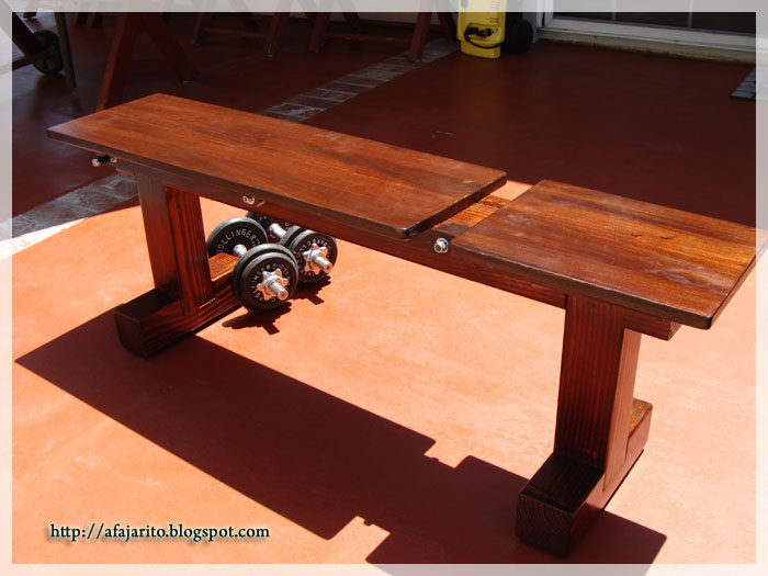 adjustable weight bench plans