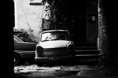 C 8966 BM (bellimarco) Tags: white black car sofia tunnel bulgaria ddr marco belli bianco macchina nero trabant contrasto abbandono degrado trabantology