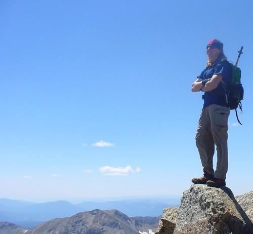 Climbergirl on Harvard (14,420ft) Summit