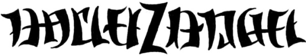 """Harley Z Angel"" Ambigram Sketch #3"