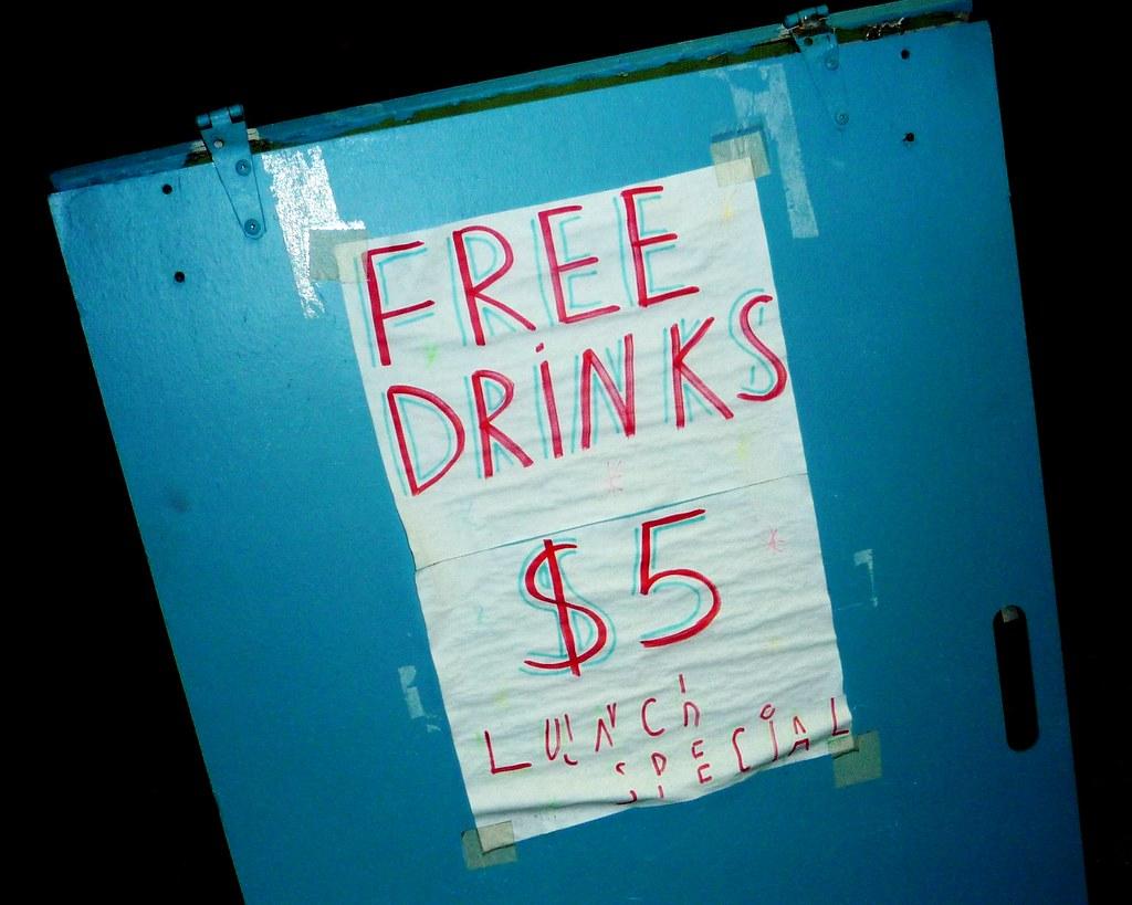 Free Drinks $5