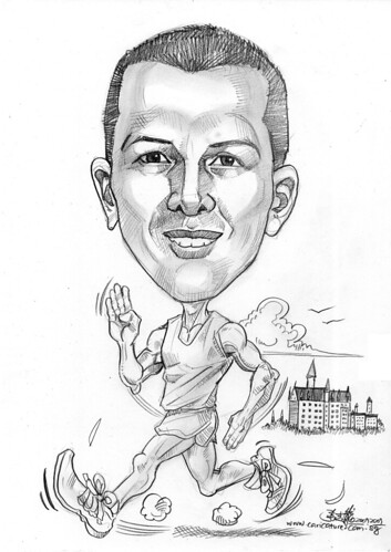 Runner caricature for Exxonmobil - 3