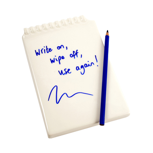Ceramic Notepad (blue pencil)