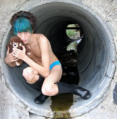 Lost in the Tunnel (Angelo Nairod) Tags: blue tristan lost blu tunnel icon pop tragedy heroine alive turchese patrickwolf popshow bluhair angelonairod