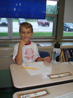 Blake First Day of School