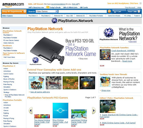 PSN Amazon Storefront