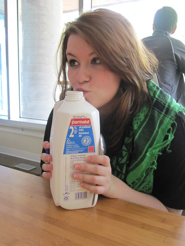 Caroll-Ann loves milk