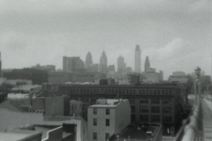 Philly from the Ben Franklin (lelascar) Tags: holga135