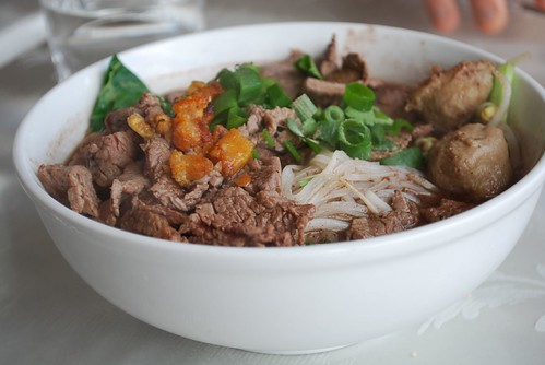 ????? Nam Tok Beef Noodle Soup - Kao Gaeng Thai AUD8.90 - photo by Julia