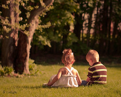 Best Friends (Rebecca812) Tags: family friends light boy portrait tree home nature girl beautiful gras