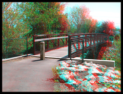 Handheld 3D Anaglyph Test Images - Fairfield County Heritage Trail (rbatina) Tags: park county city ohio red heritage nature bike bicycle outside outdoors photography three daylight 3d day hand image path picture cyan parks running trail stereo photograph lancaster handheld oh daytime held jogging stereograph dimension depth stereography fairfield dimensional 4thtest rubbertoe