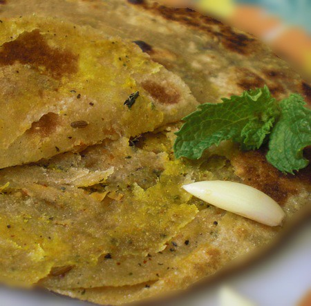 stuffy parathas or Indian stuffed flat breads