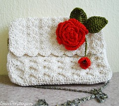 ecru crochet purse (5) (creationsbyeve) Tags: summer europe pretty handmade crafts small crochet redrose chain greece homemade cotton trendy handcrafted etsy artisan crafting ecru handmadegifts handcraftedgifts creationsbyeve etsygreekteam