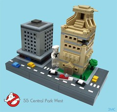 55 Central Park West (2 Much Caffeine) Tags: lego micro ghostbusters moc staypuftmarshmallowman gozer whoyougonnacall 55centralparkwest ironbuilder thischickistoast