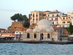 La mosquée turque du port (La Canée, Crète) (dalbera) Tags: port grèce mosquée chania méditerranée crète dalbera lacanée