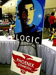 Autographed! (Dave Shaddix) Tags: phoenix lego spock comicon leonardnimoy logic