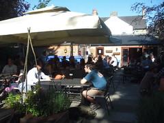 Cambridge Blue beer garden looking towards extension